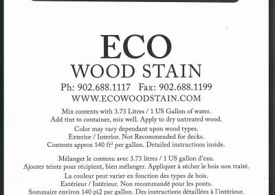 eco wood stain 1 gallon black back