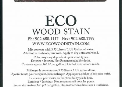 eco wood stain 1 gallon brown