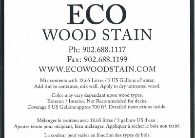 eco wood stain 5 gallon brown