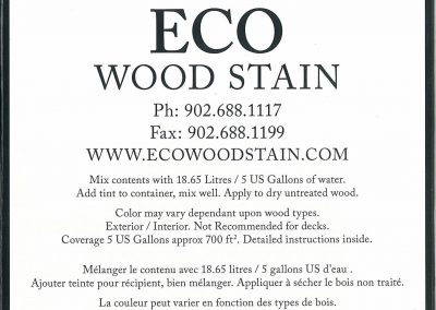 eco wood stain 5 gallon red