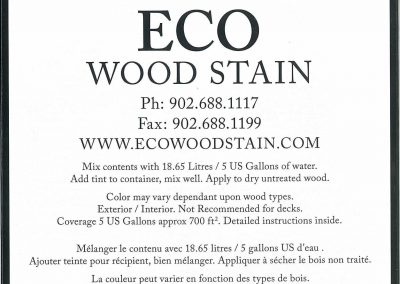 eco wood stain black 5 gallon